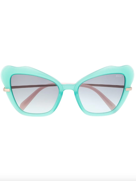 sunglasses in 'butterfly' frame
