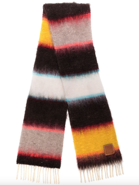 knitted scarf with stripes
